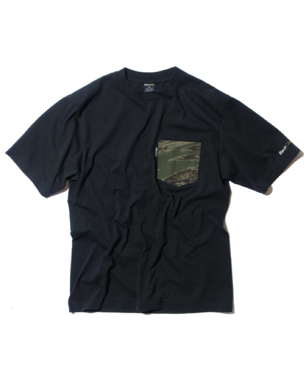 GHOSTLION CAMO POCKET T-BLK1