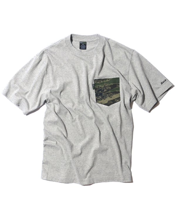GHOSTLION CAMO POCKET T-gry1