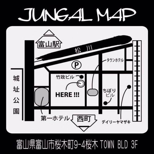 富山 JUNGAL 地図